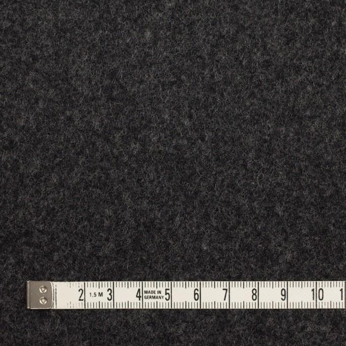 ウール×無地(チャコール)×ソフトメルトン イメージ4