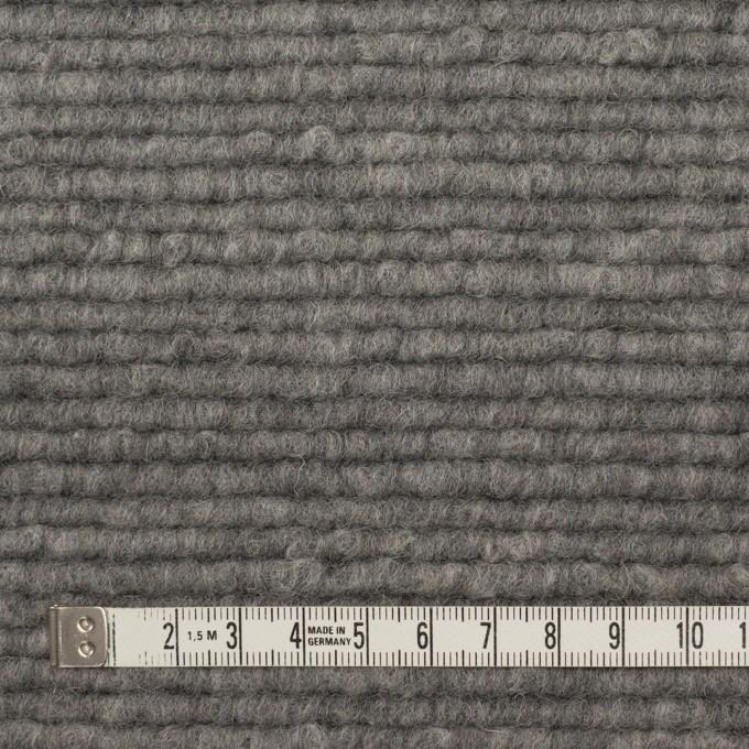 ウール&アクリル混×無地(グレー)×ループニット_イタリア製 イメージ4