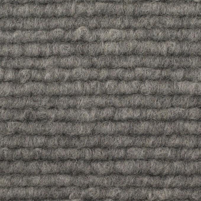 ウール&アクリル混×無地(グレー)×ループニット_イタリア製 イメージ1