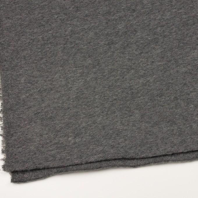 モヘア&ウール混×無地(チャコールグレー)×ループニット_イタリア製_全2色 イメージ2