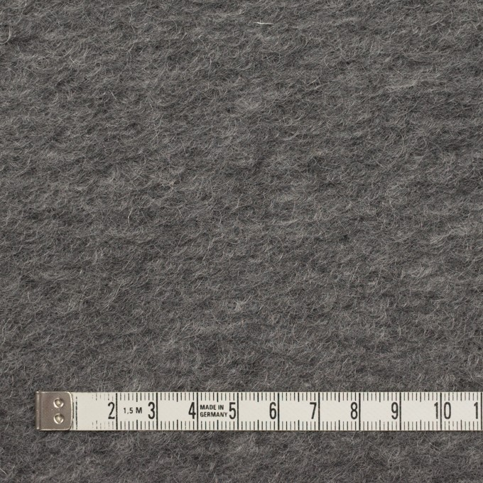 モヘア&ウール混×無地(チャコールグレー)×ループニット_イタリア製_全2色 イメージ4