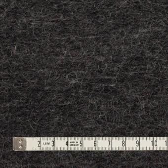 モヘア&ウール混×無地(チャコール)×ループニット_イタリア製_全2色 サムネイル4