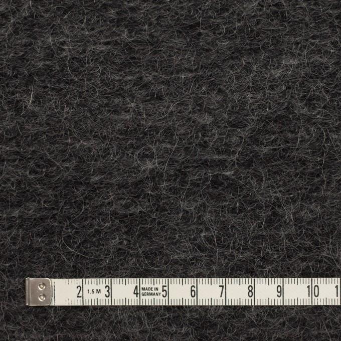 モヘア&ウール混×無地(チャコール)×ループニット_イタリア製_全2色 イメージ4