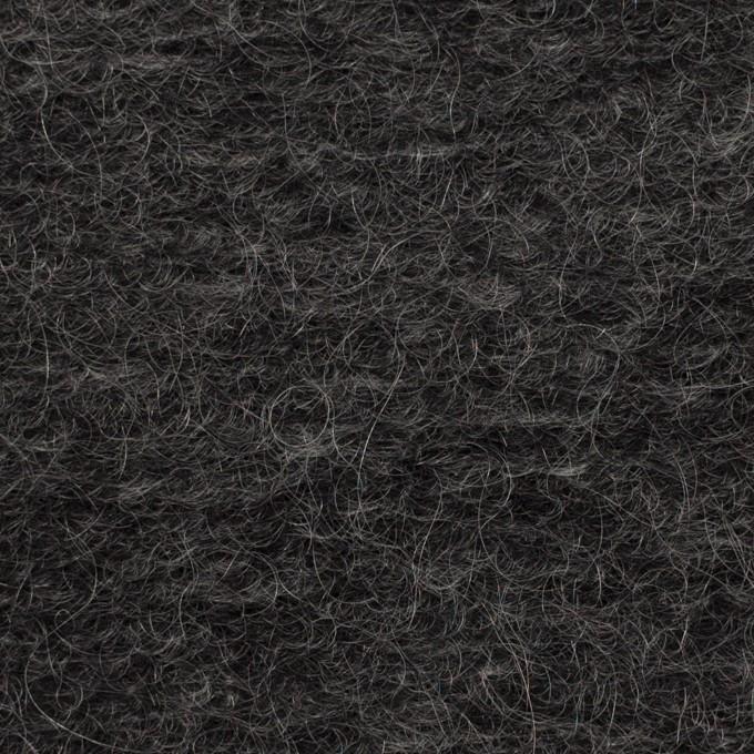 モヘア&ウール混×無地(チャコール)×ループニット_イタリア製_全2色 イメージ1