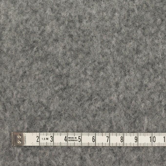 ポリエステル&ウール混×無地(グレー)×フリースニット イメージ4