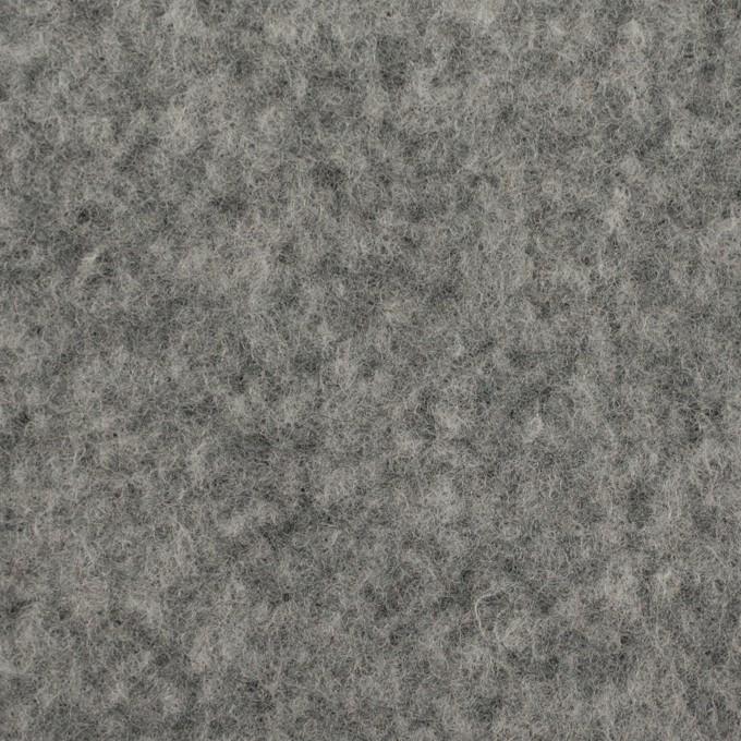 ポリエステル&ウール混×無地(グレー)×フリースニット イメージ1
