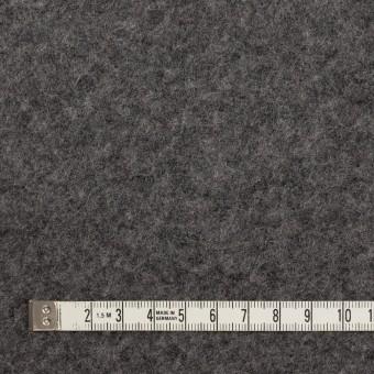 ウール&アクリル混×無地(チャコールグレー)×ボアニット_イタリア製 サムネイル4