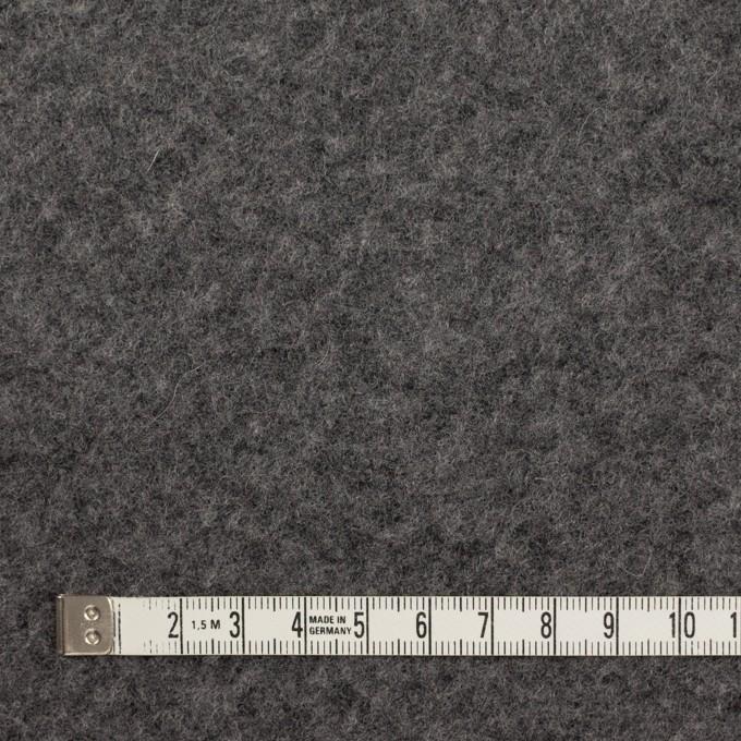 ウール&アクリル混×無地(チャコールグレー)×ボアニット_イタリア製 イメージ4