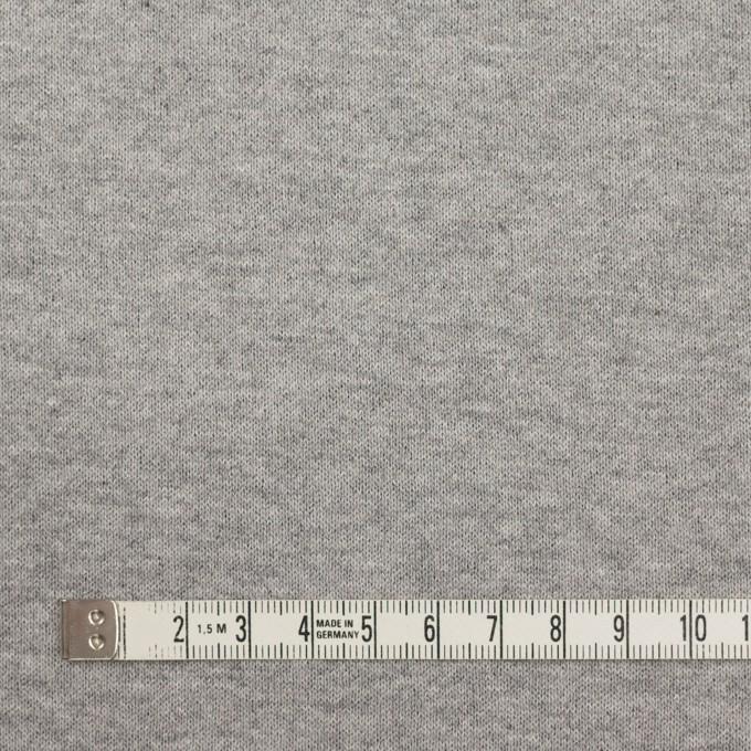 ウール&コットン×無地(チャコールグレー)×フリースニット イメージ6