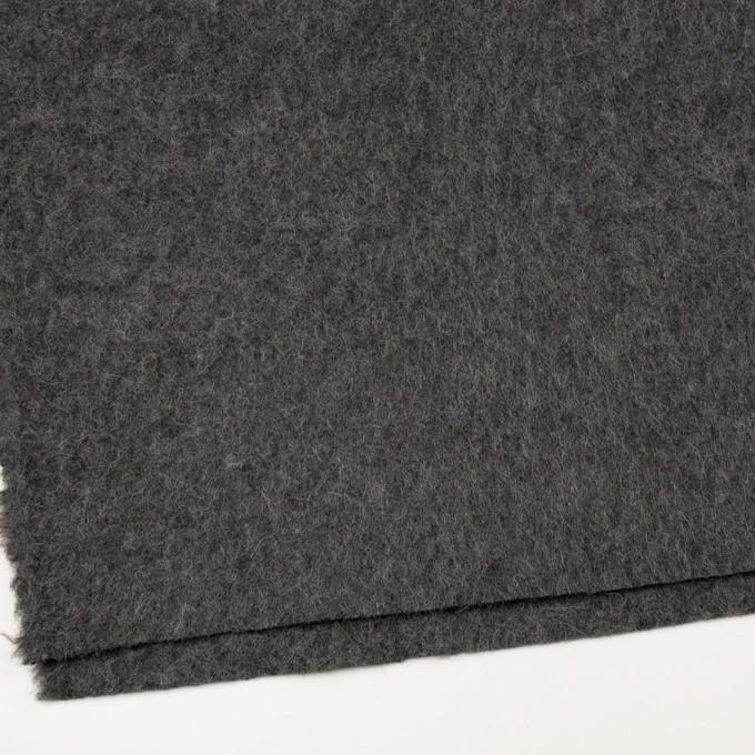 ウール&モヘア×無地(チャコールグレー)×かわり編み イメージ2