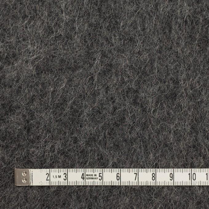 ウール&モヘア×無地(チャコールグレー)×かわり編み イメージ4