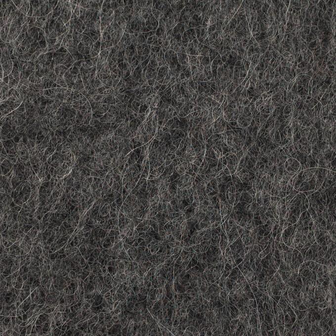 ウール&モヘア×無地(チャコールグレー)×かわり編み イメージ1