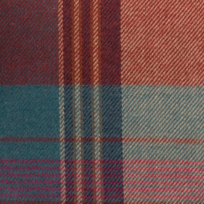 コットン×チェック(レッドブリック&ブルーグレー)×ビエラ イメージ1