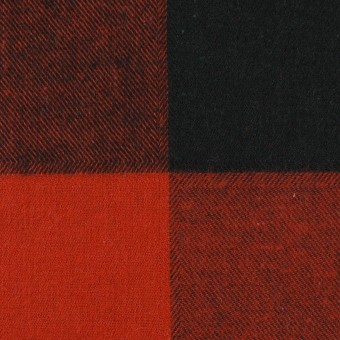 コットン×チェック(レッド&ブラック)×ビエラ サムネイル1
