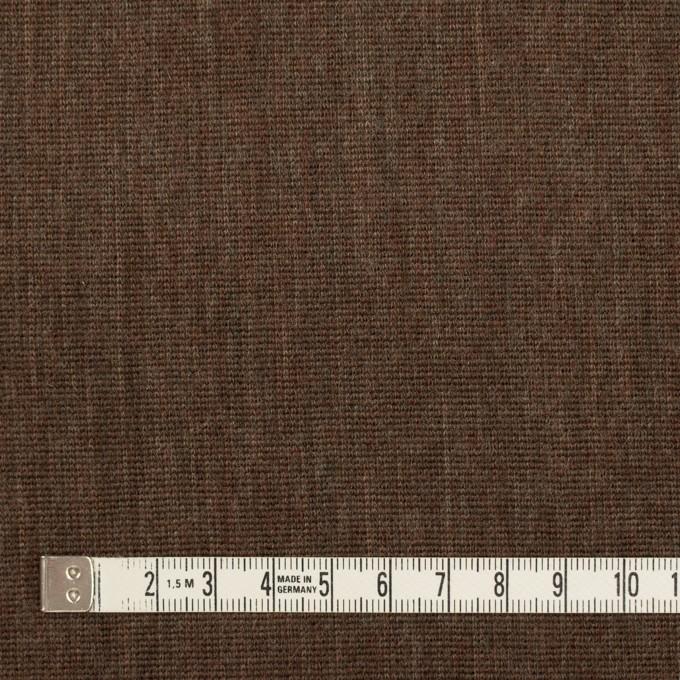 ウール×無地(カーキブラウン)×かわり編み イメージ4