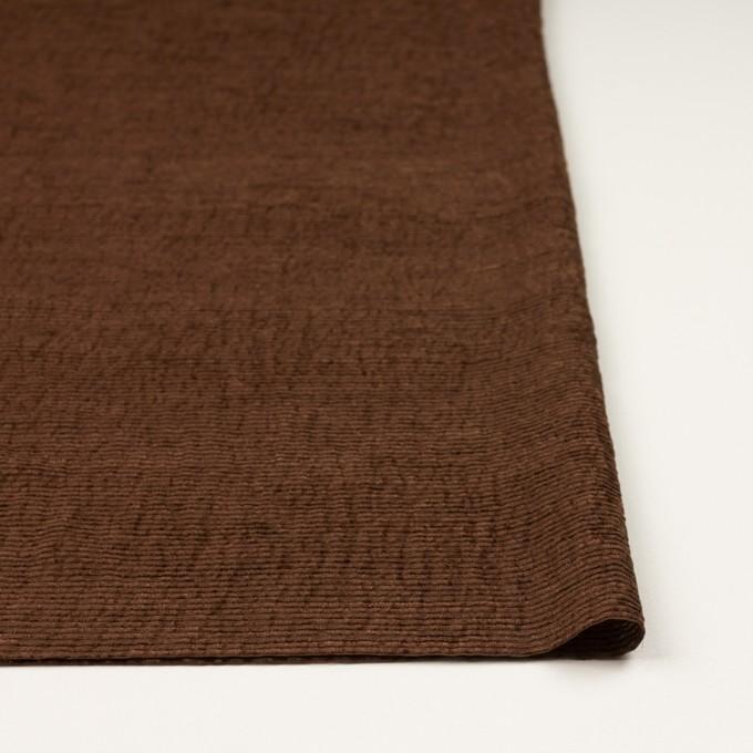 シルク×ボーダー(ブラウン)×ジョーゼット_イタリア製 イメージ3