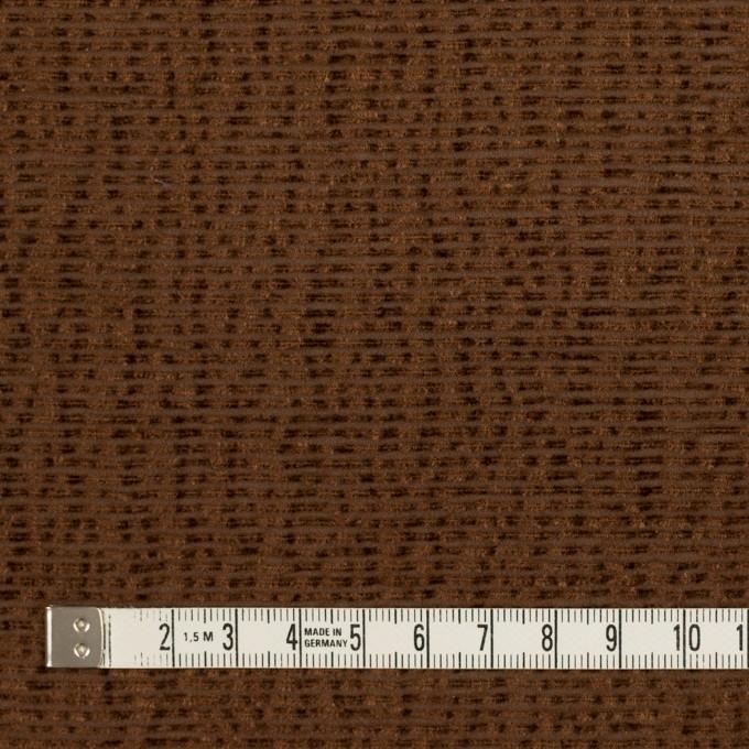 シルク×ボーダー(ブラウン)×ジョーゼット_イタリア製 イメージ4