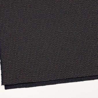 コットン&ウール混×ミックス(ダークネイビー、キナリ&カーキグリーン)×かわり織 サムネイル2