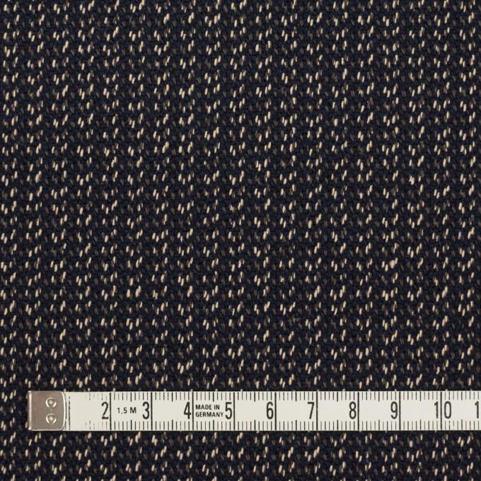 コットン&ウール混×ミックス(ダークネイビー、キナリ&カーキグリーン)×かわり織 イメージ4