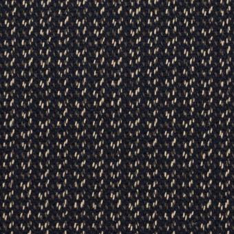 コットン&ウール混×ミックス(ダークネイビー、キナリ&カーキグリーン)×かわり織 サムネイル1