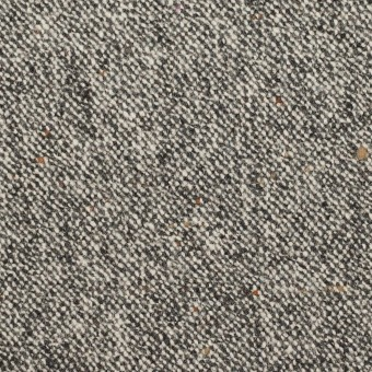 ウール&ポリウレタン×ミックス(アイボリー&ブラック)×ツイードストレッチ_全2色 サムネイル1