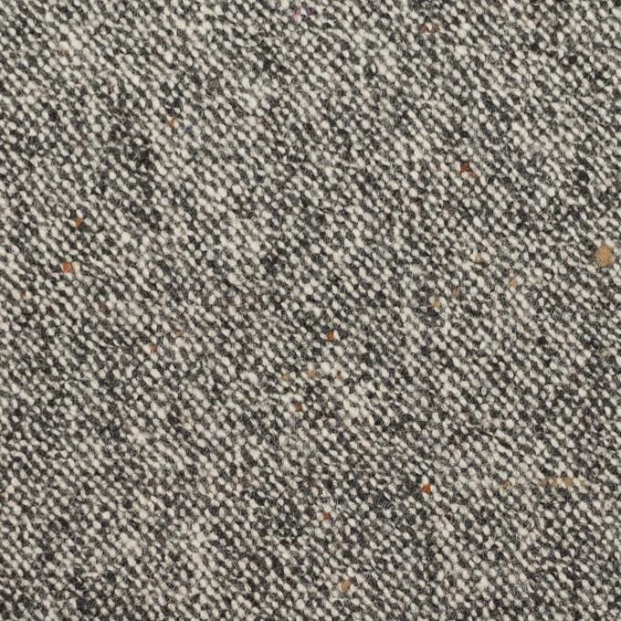 ウール&ポリウレタン×ミックス(アイボリー&ブラック)×ツイードストレッチ_全2色 イメージ1