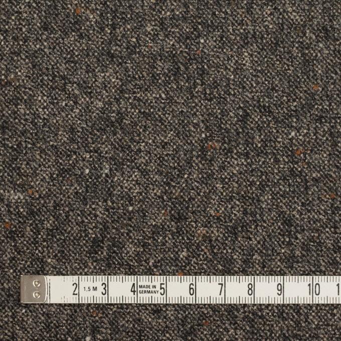 ウール&ポリウレタン×ミックス(キナリ&チャコール)×ツイードストレッチ_全2色 イメージ4