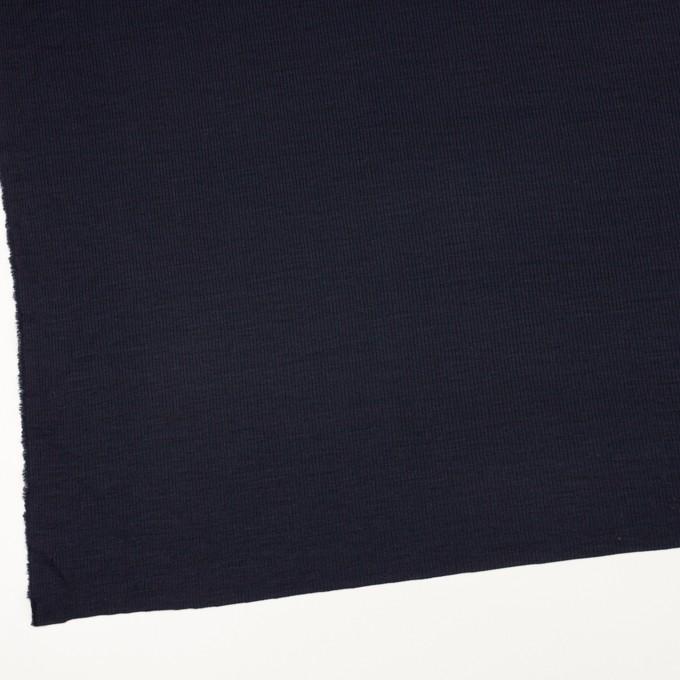 ウール&シルク×無地(ダークネイビー)×フライスニット イメージ2