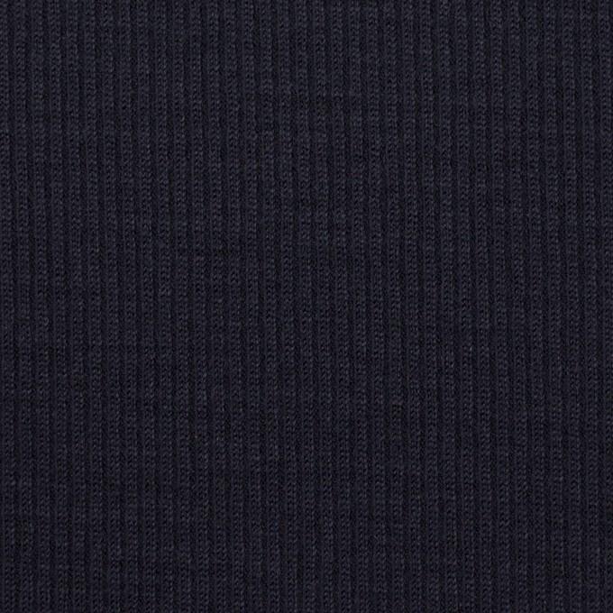 ウール&シルク×無地(ダークネイビー)×フライスニット イメージ1