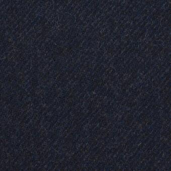 ウール×無地(ダークネイビー)×サージ サムネイル1