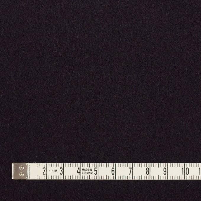 ウール×無地(ダークレーズン)×メルトン イメージ4