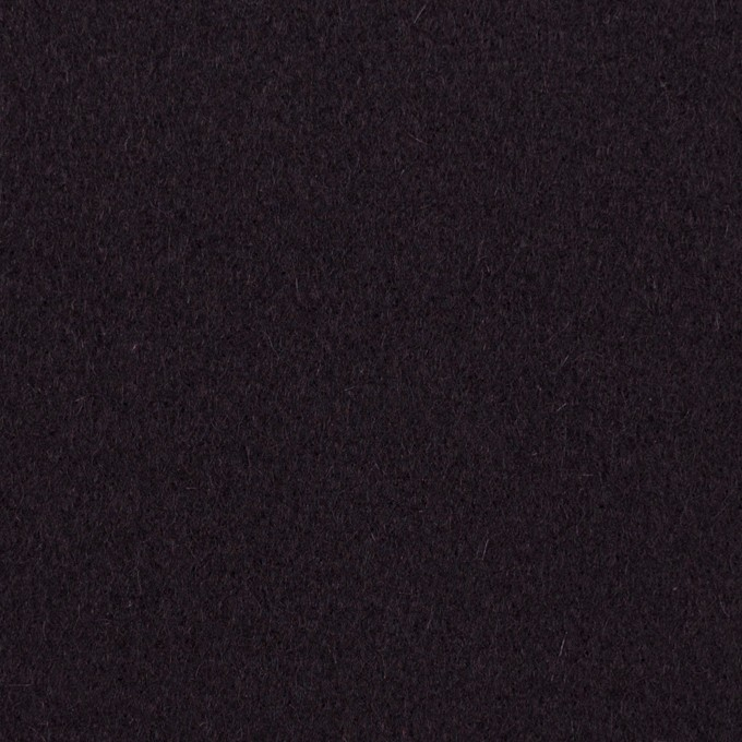 ウール×無地(ダークレーズン)×メルトン イメージ1