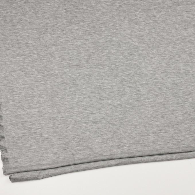 コットン&リヨセル混×無地(シルバーグレー)×裏毛ニット イメージ2