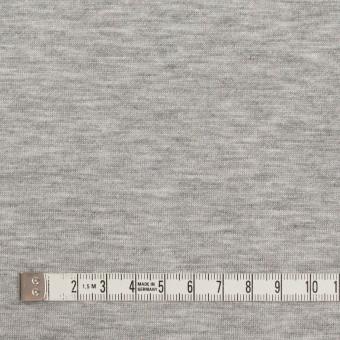 コットン&リヨセル混×無地(シルバーグレー)×裏毛ニット サムネイル4
