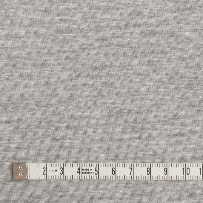 コットン&リヨセル混×無地(シルバーグレー)×裏毛ニット イメージ4