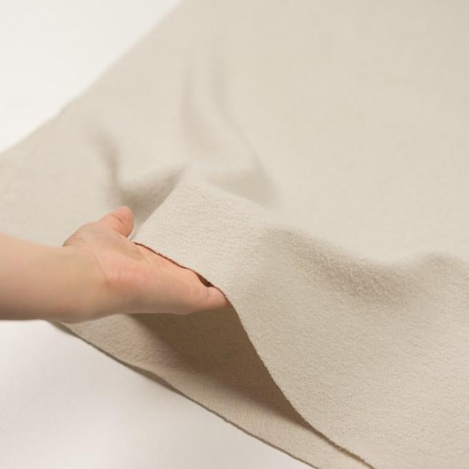 ウール&ナイロン×無地(アイボリー)×かわり織 イメージ5