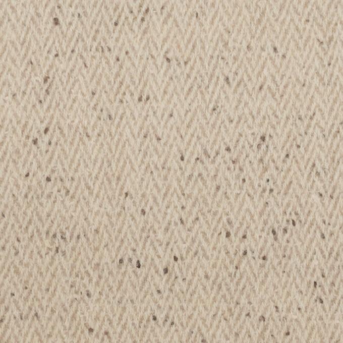 ウール×ミックス(ベージュ)×ヘリンボーン イメージ1