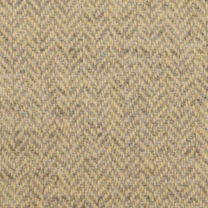 ウール×ミックス(ネープルスイエロー&グレー)×ヘリンボーン イメージ1