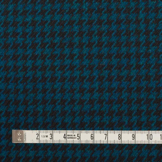 ウール×チェック(ターコイズ&ブラック)×千鳥格子 イメージ4
