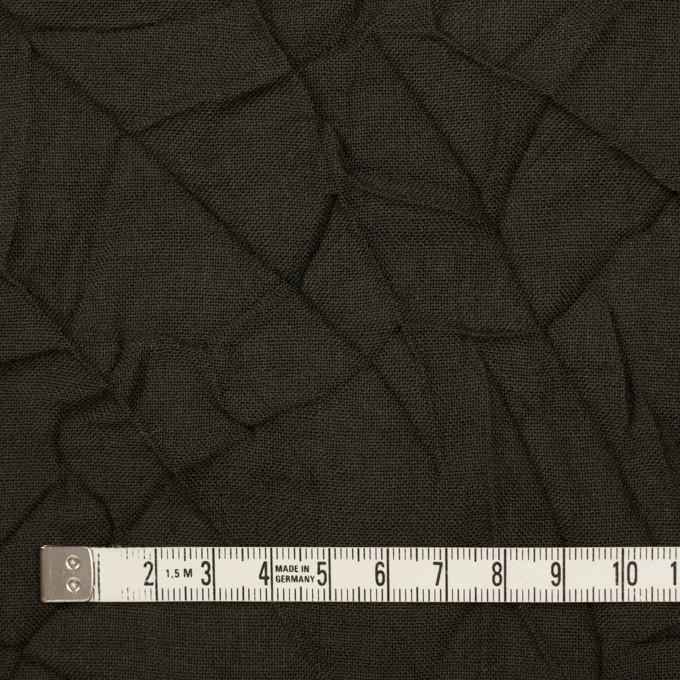 ウール×無地(ダークカーキ)×ボイルワッシャー イメージ4