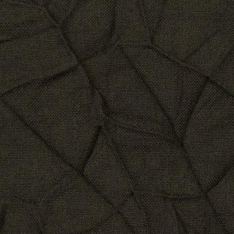 ウール×無地(ダークカーキ)×ボイルワッシャー サムネイル1