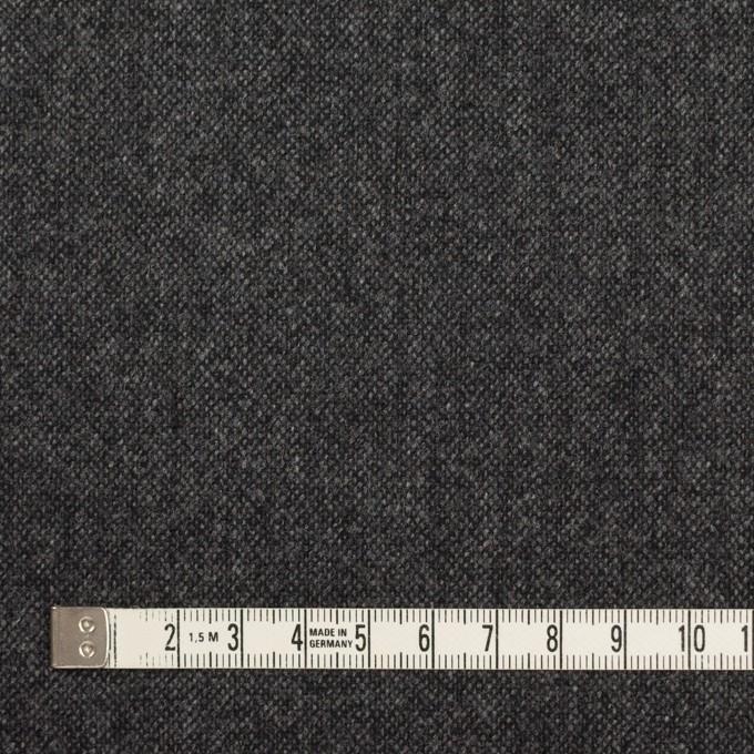 ウール&ナイロン混×無地(チャコールグレー)×ツイード イメージ4