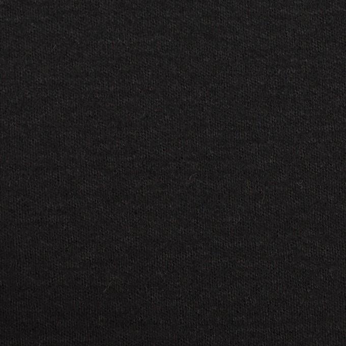 ウール×無地(ブラック)×スムースニット イメージ1