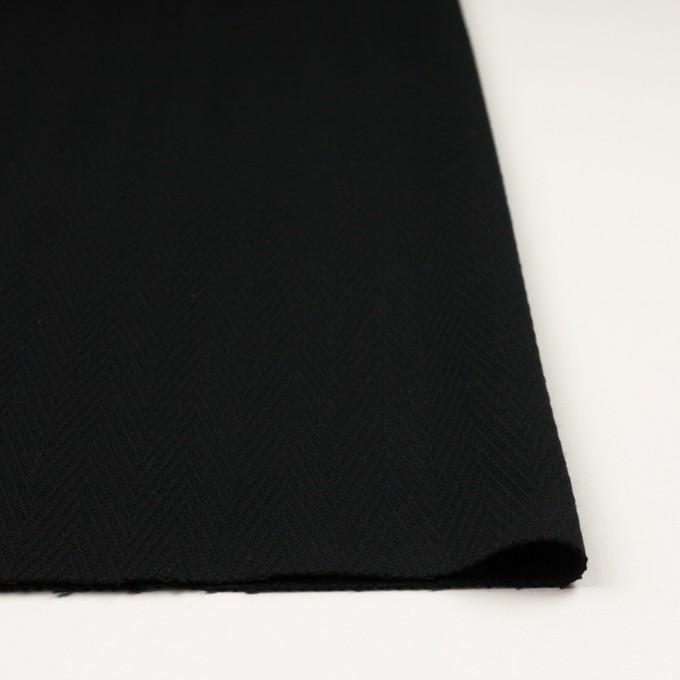 ウール×無地(ブラック)×かわり織 イメージ3