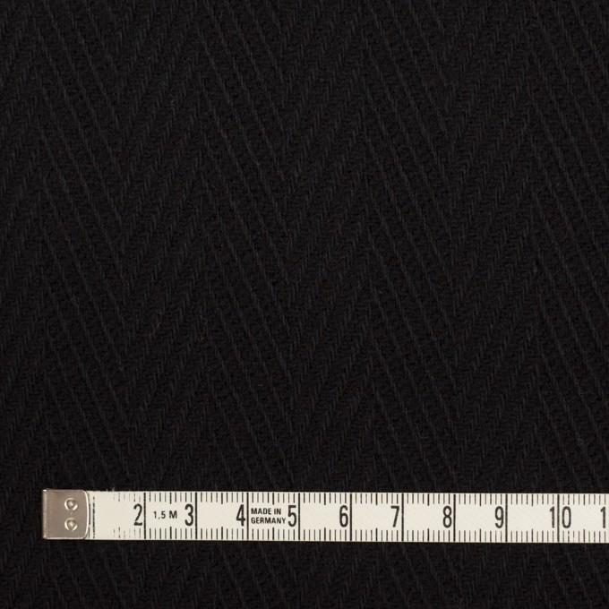 ウール×無地(ブラック)×かわり織 イメージ4