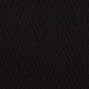 ウール×無地(ブラック)×かわり織 サムネイル1
