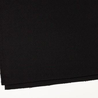ウール&アクリル混×無地(ブラック)×かわり織 サムネイル2