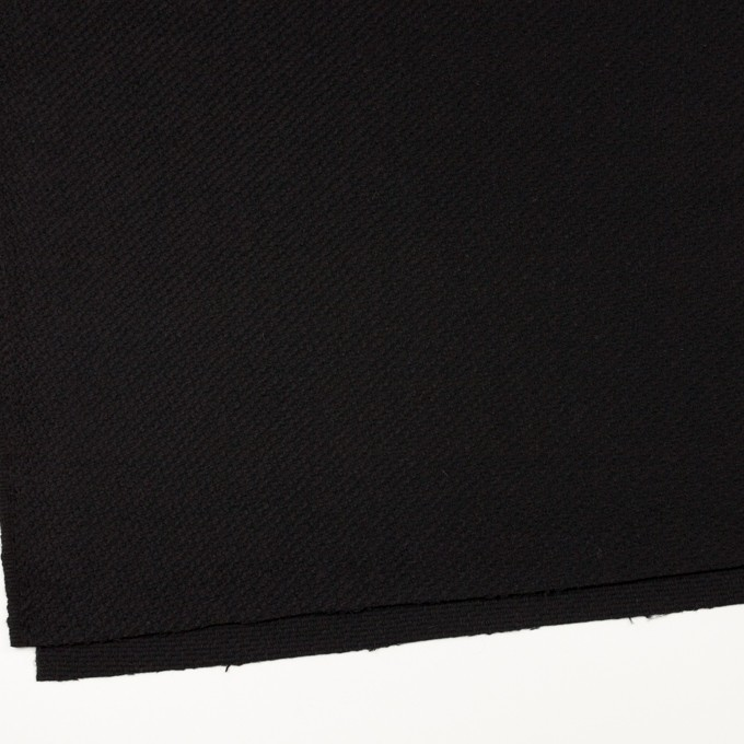 ウール&アクリル混×無地(ブラック)×かわり織 イメージ2