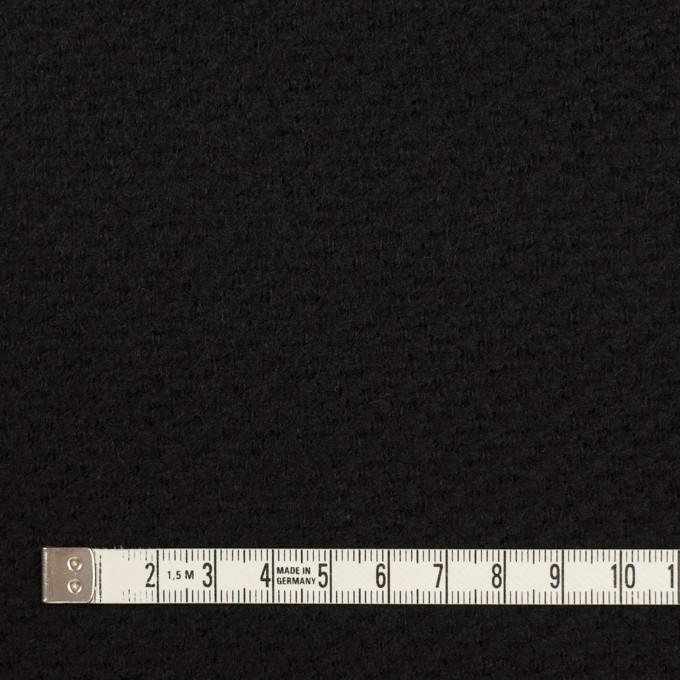 ウール&アクリル混×無地(ブラック)×かわり織 イメージ4