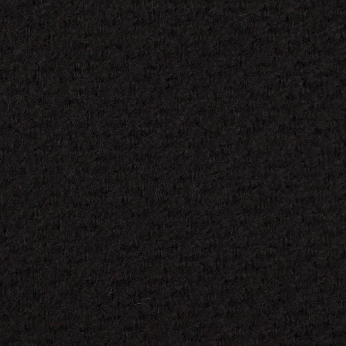 ウール&アクリル混×無地(ブラック)×かわり織 イメージ1